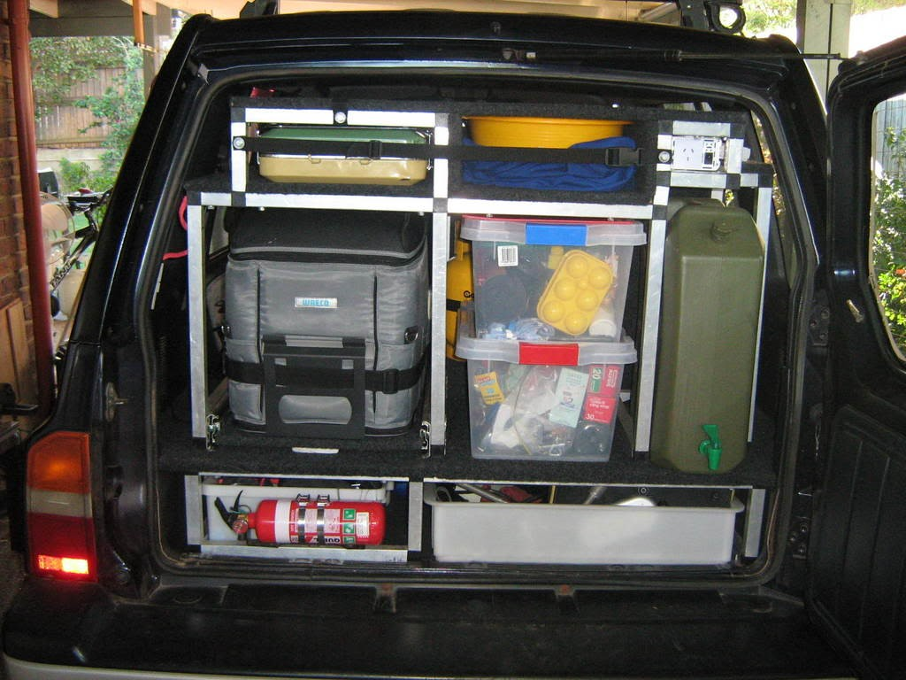 Loaded up Landcruiser
