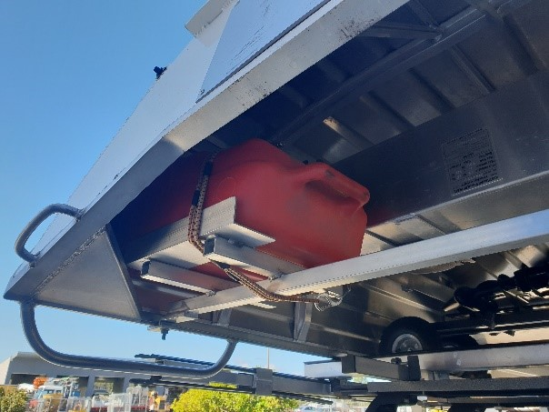 Outboard in Car Topper Boat Installed