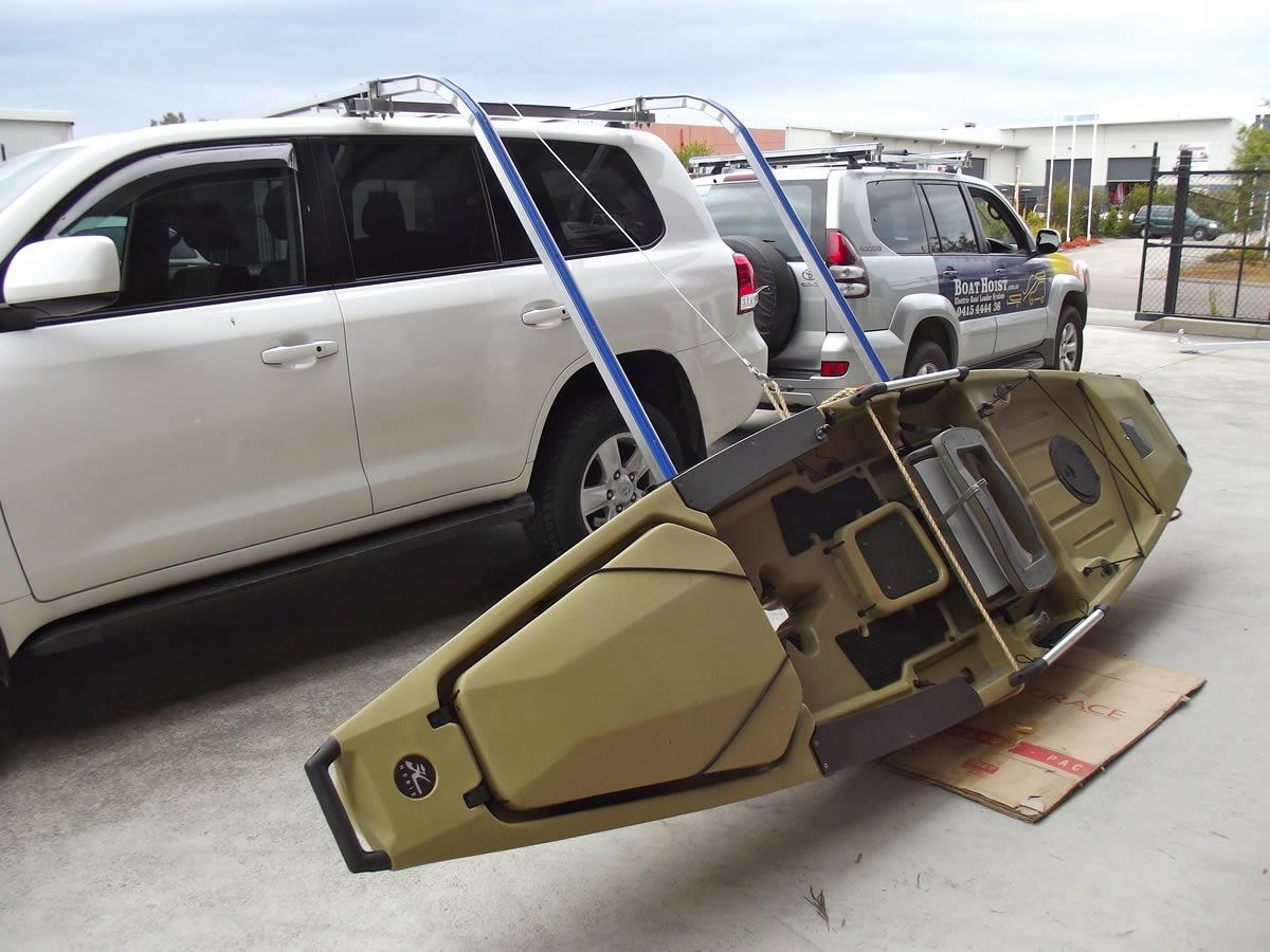 Kayak On Roof >> Electric Side Kayak Loader | SideWinder Kayak Loaders - BOAT HOIST
